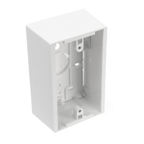 Leviton 42777-1WA Surface Mount Backbox, Single Gang, White, Box Depth Is 1.89 Inches by Leviton Gang Surface Mount Box