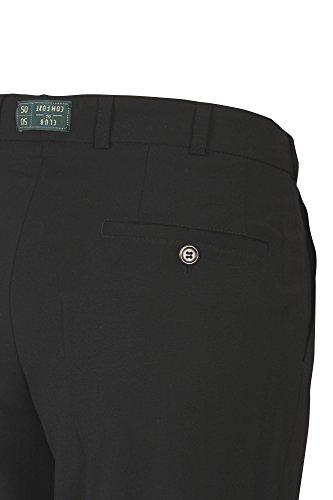 Club of Comfort Herren Businesshose 4118 auch große Größen Schwarz