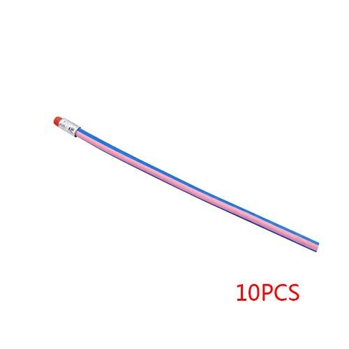 Fangfeen 10Pcs Personalisierte Bendy Flexible weicher Bleistift für Kind-Geschenk Studenten Schule (Personalisierte Bleistifte Für Kinder)