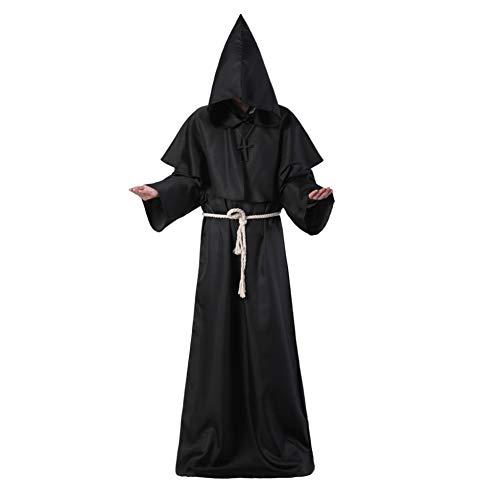 Männer Frauen Kinder Unisex Tunika Mit Kapuze Robe Halloween Cosplay Kostüm Priester Robe Umhang - Priester Jungen Kostüm