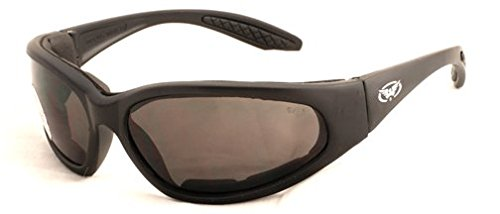 Motorrad Rundum Sonnenbrille mit EVA-Schaum Futter und bruchsicher anti Beschlag Gläser mit kostenlosem Mikrofaser Aufbewahrungstasche.