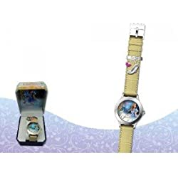 Kids Euroswan - Disney WD16691 Cinderella Live Wrist Watch Color Gold