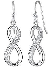 Elli Damen-Ohrringe Infinity Unendlichkeit 925 Sterling Silber