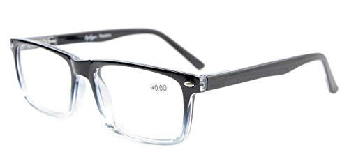 Eyekepper Leser Federscharniere Brillen Schwarz Klar +1.25
