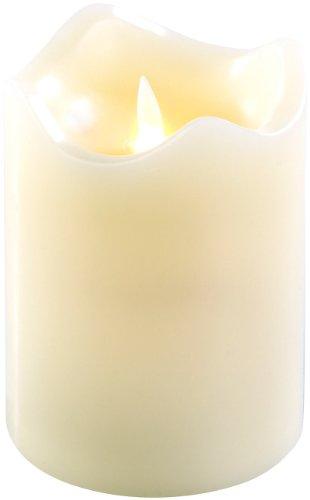 Britesta LED Kerzen: Echtwachskerze mit beweglicher LED-Flamme, 90 x 130 mm, Gr. M (Kerzen)