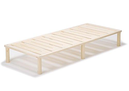 Gigapur G1 26882 Bett | Bettgestell mit Lattenrost | Bettrahmen belastbar bis 195 Kg | Holzbett 90 x 200 cm (Bett Insgesamt)