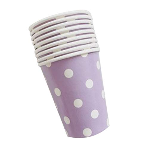 (OPSLEA 12Pcs Papier Cups (9.5oz) Polka Dot Farben Geburtstag Party Catering Geschirr)