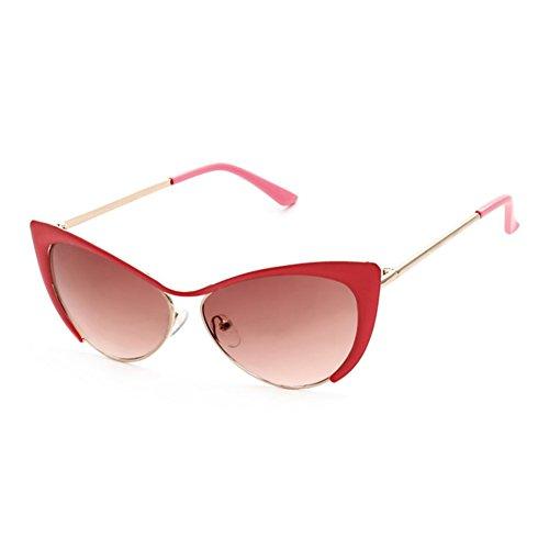 Z-P women's temperament metal frame color lens cat's eye glasses UV-resistant sunglasses