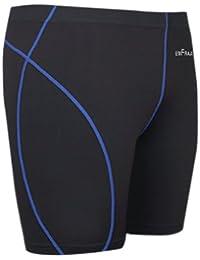 emFraa Homme Femme Running black Compression Base layer Shorts S ~ XL