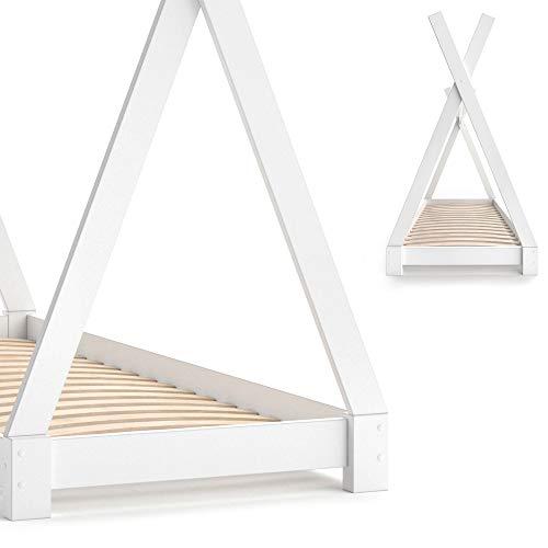 Vicco Kinderbett TIPI Kinderhaus Indianer Zelt Bett Kinder Holz Haus Schlafen Spielbett Hausbett 80×160 (Weiß) - 6