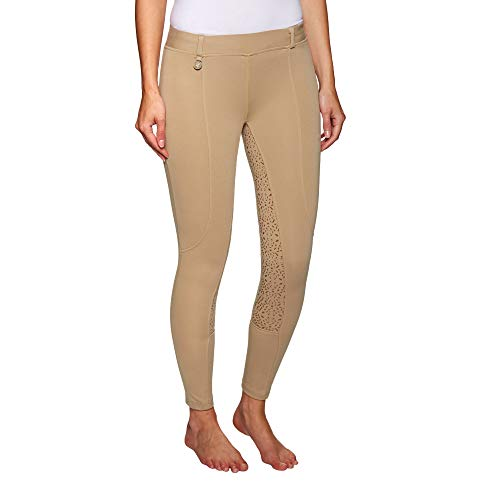 Derby House Pro Gel Womens Riding Tights 32 inch Beige - Gel-tight