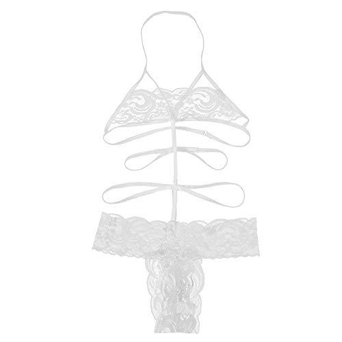 Heligen Womens Sexy Dessous Babydoll Spitze Bogen Kleid Nachtwäsche G-String Nachtwäsche Plus Size Sleepskirt
