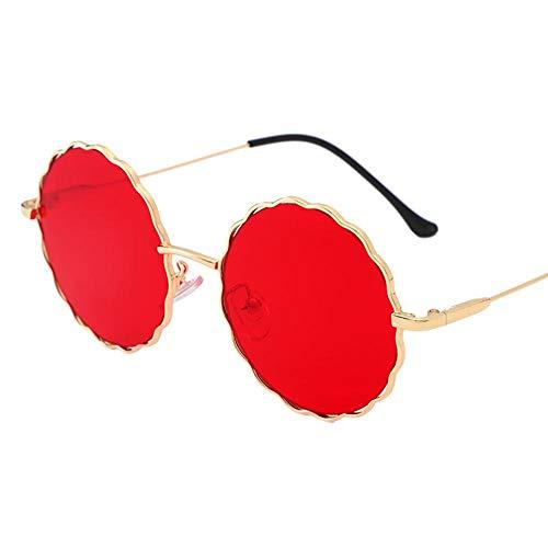 Westeng Sonnenbrillen Sonnenbrillen für Damen Metallrahmen Retro-Stil Blumenmuster Gelb (5)