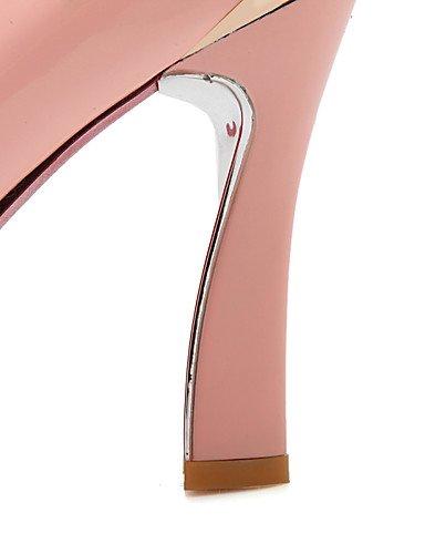 WSS 2016 Chaussures Femme-Bureau & Travail / Décontracté-Noir / Rose / Blanc-Gros Talon-Talons / Bout Arrondi-Talons-Cuir Verni / Polyuréthane pink-us5 / eu35 / uk3 / cn34