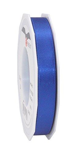 Prasent 15 mm 25 m Rolle Schleifenband, Satin, Doppelseitig, Blau -