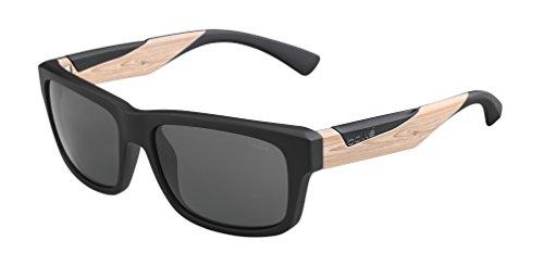 bollé Erwachsene Jude Sonnenbrille, Matte Black/Wood, Medium