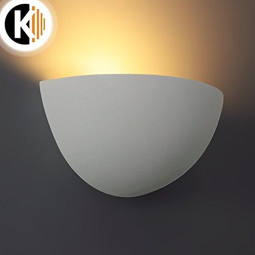 LED / Halogen Leuchte GIPS Bowl Wandleuchte PLASTER-3 Weiss IP20 E14 Fassung Innenlampe Wandlampe Wandleuchte Flurleuchte 230V