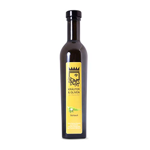 Bärlauch Öl - Original und handgefertigt von KräuterGott - 250ml preisgekröntes Olivenöl Extra Nativ mit frischem Bärlauch