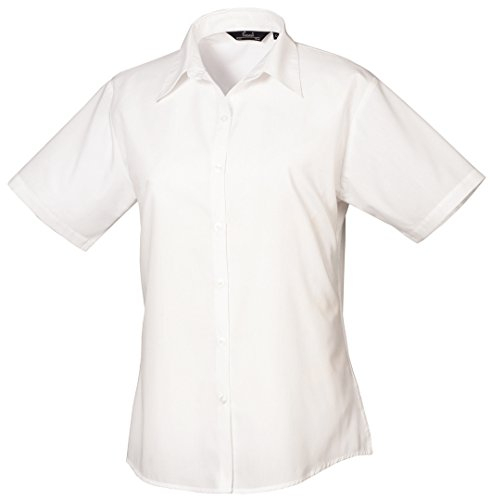 Premier Womens short sleeve poplin blouse Purple
