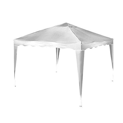 Vanage Pavillon Stella weiß aus Aluminium ohne Seitenwände, 300x300x260cm, Faltpavillon einsetzbar...