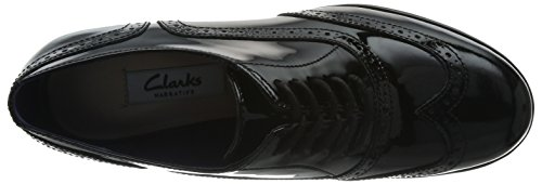 Clarks - Hamble Oak, Stringate da donna Nero (Black Pat)