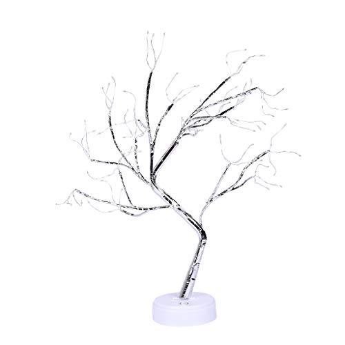 SODIAL 108 Leds Desktop Bonsai Baum Licht Wei?e Zweige Gypsophila Lichter Haus Party Hochzeit Innen Dekoration (Desktop-bonsai Licht)