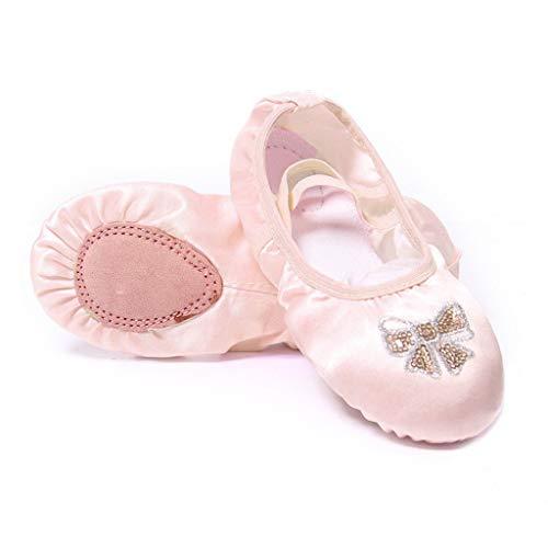 DoGeek Nett Ballettschuhe Rosa für Kinder Schläppchen Weich Ballet Trainings Schläppchen Schuhe für Mädchen/Damen in Den Größen 25-40 (Bitte bestellen Sie eine Nummer grösser) -