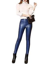 QK-Lannister Pantaloni Casual in Velluto Coste A con Pantaloni in Ragazza Pelle  Sintetica A Vita Alta Pantaloni Caldi in… f070a78c6c9d