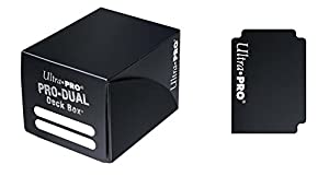 Black Pro Dual Deck Box (120 Cards) - Juguete (Ultra Pro UPR82981) Importado de Inglaterra
