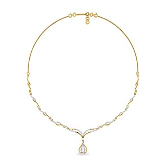 PC Jeweller The Malia 18KT Yellow Gold and Solitaire Necklace for Women