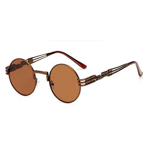 WZYMNTYJ Brand Design Gothic Steampunk Sonnenbrille Für Männer Frauen Runde Sonnenbrille Legierung Metall Wrap Eyewears UV400