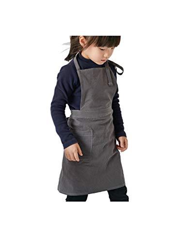 FUYUFU Grembiule Da Cucina Unisex In Lino Per Bambini In Cotone Dipinto Per Grembiule Da Bambino e Da Ragazza (M)