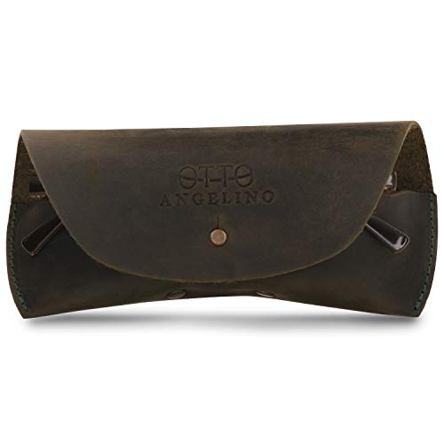 Londo Genuine Leather Case for Eyeglass, Sunglasses, Goggles and Spectacles (Grün)
