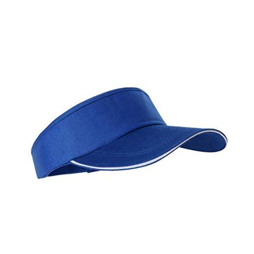 Mode Sonnenblende Hut Neutral Leer Top Männer Sport Cap Adjustable Sport Solid Color Tennis Golf Baseballmütze Für Männer Frauen (Blau)