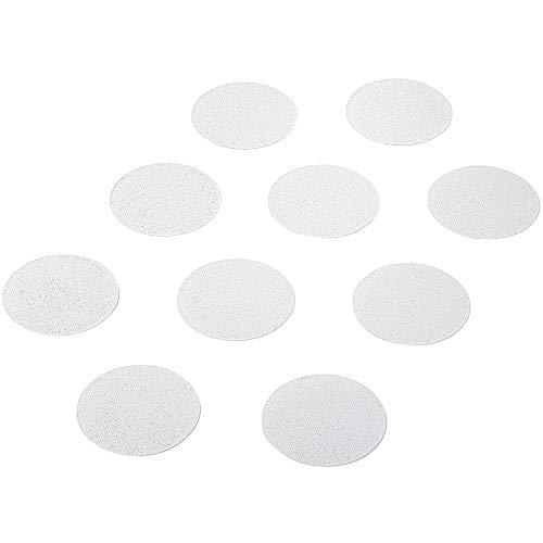 AnTina TAPES 14 Stück Premium Anti-Rutsch-Aufkleber für Duschen und Badewannen, rund 9 cm (ø), transparent, selbstklebend - der geniale Rutschschutz