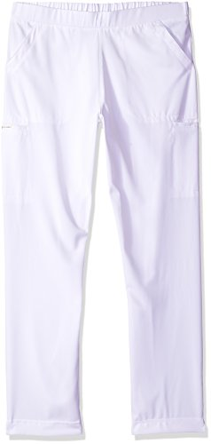 WonderWink Women's Hp Plus Size Trouser Scrub Pant Petite, White, X-Small -