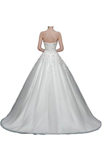 Victory bridal 2015 neuf élégant en dentelle et paillettes traegerlos suspendre une robe de mariée motif brautkleider brautmode Ecru - Ecru