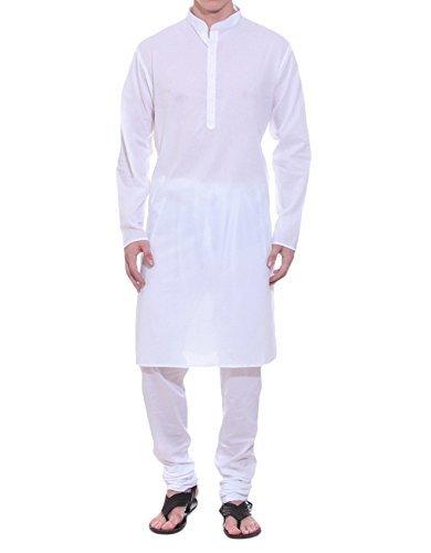 Royal Men's Cotton Kurta Pyjama Set (ROYAL_01_White _Large)  available at amazon for Rs.399
