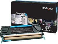 LEXMARK C746, C748 7K Toner cyan Standardkapazität 7.000 Seiten 1er-Pack - 7k Toner Cyan