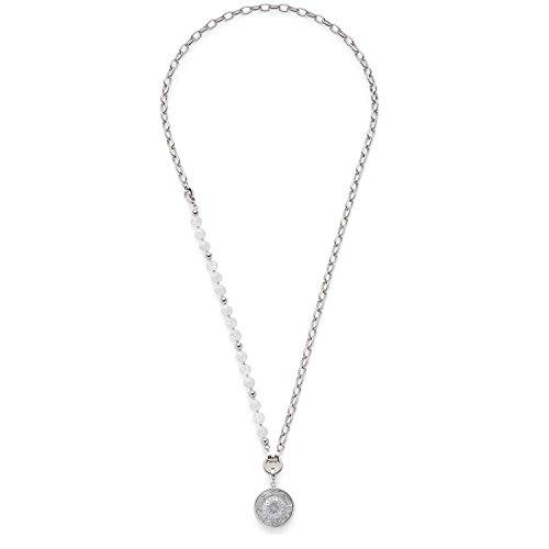 Leonardo Jewels Damen Schmuck-Sets Halskette Darlin\'s Roma Edelstahl Glas silber 80 cm 016440