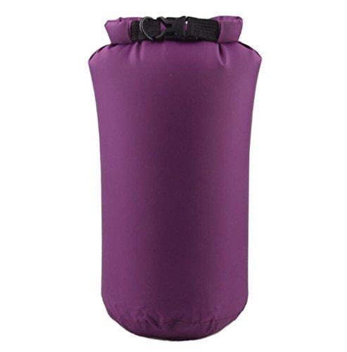 Hosaire 1X Borsa impermeabile Dry Bag 8L Custodia Impermeabile/ Sacca Impermeabile Marsupio/ Sacchetto Impermeabile / Rafting Bag / Borsa da spiaggia /Marsupio Borsa Sacchetto Impermeabile Per Campegg Porpora