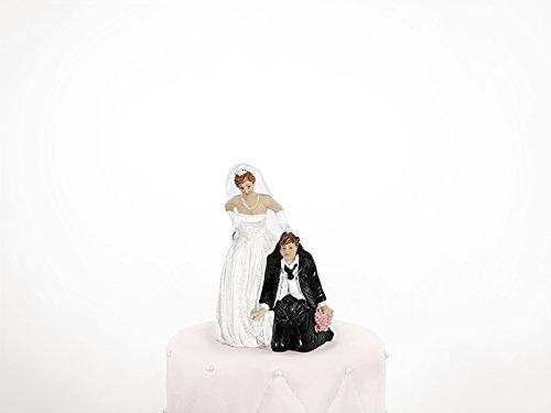 Brautpaar Hochzeitspaar Tortenaufsatz Tortenfigur Dekofigur Cake Topper Hochzeit Wedding | 11 cm | lustig