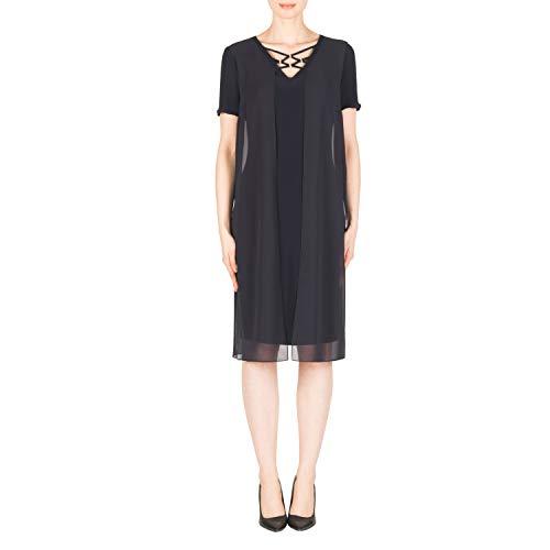 Joseph Ribkoff Chiffon & Silky Knit Short Sleeve Dress Style 183250