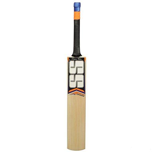 S+S SS Kaschmir Willow Leder Ball Cricket Bat, exklusiven Cricket Schläger für Erwachsene Full Größe mit Full Cover Schutz