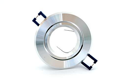 Pianeta-led GU10 Support en aluminium pour spot encastrable, orientable, brillant/satiné, 50 mm