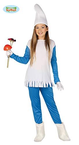 Guirca Costume vestito Puffetta Puffo carnevale bambina 8155_ 7-9 anni