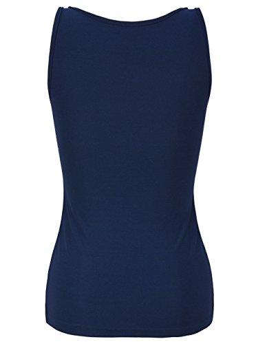 PrettyGuide Donne Shimmer Glam Paillettes Impreziosito Sparkle Canotta Vest Tops Marina