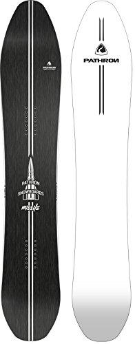 Pathron Snowboard Missile Carbon Rocker Powderboard (White Base, 181cm)