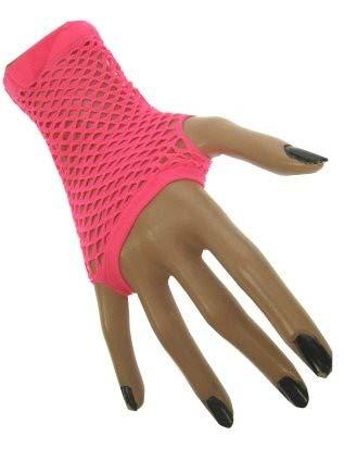 HaPe-Kopa Netzhandschuhe kurz Farbe neon-pink, pinkes Netz