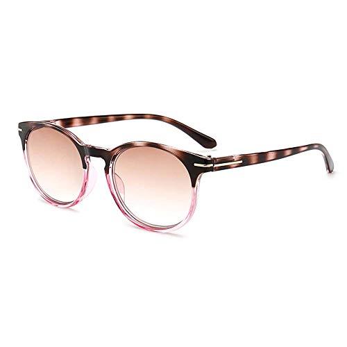 GEMSeven Retro Leopard Bein Sonnenbrille Frauen Übergroße Tee Linse Lesebrille Für Männer Hyperopia Presbyopie Mit Dioptrien Brille